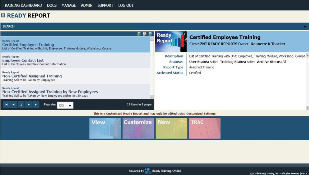 Real-Time Reporting for Restaurant Training Administrators